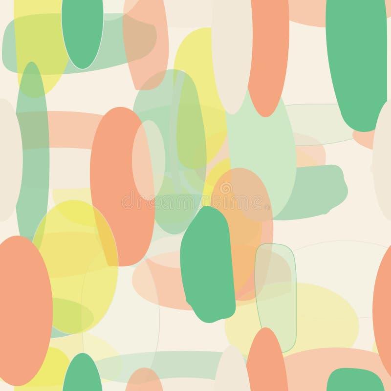 Organicznie abstrakcjonistyczny nowożytny żółtej zieleni pomarańczowy seameless wzór ilustracji
