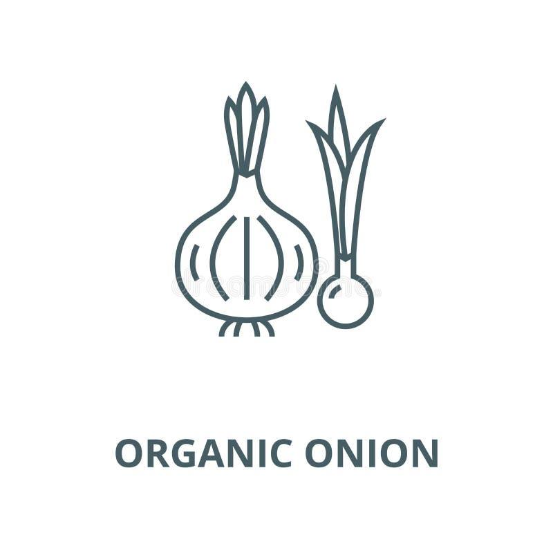 Organicznie cebulkowa wektor linii ikona, liniowy pojęcie, konturu znak, symbol royalty ilustracja
