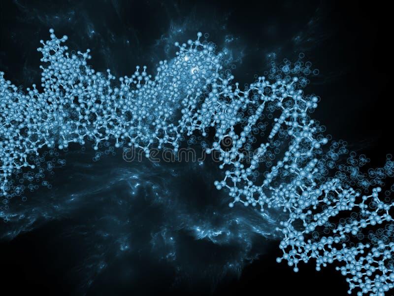 Organicznie chemia ilustracja wektor