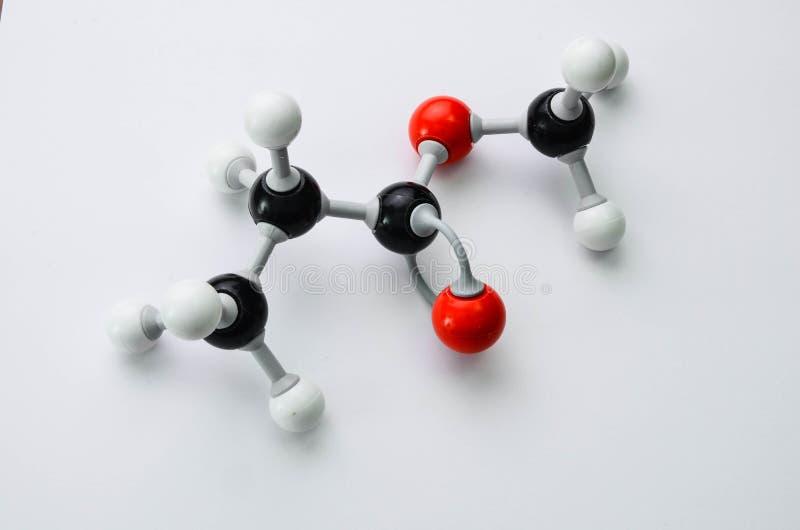 Organicznie chemii molekuły model w imię esteru fotografia stock