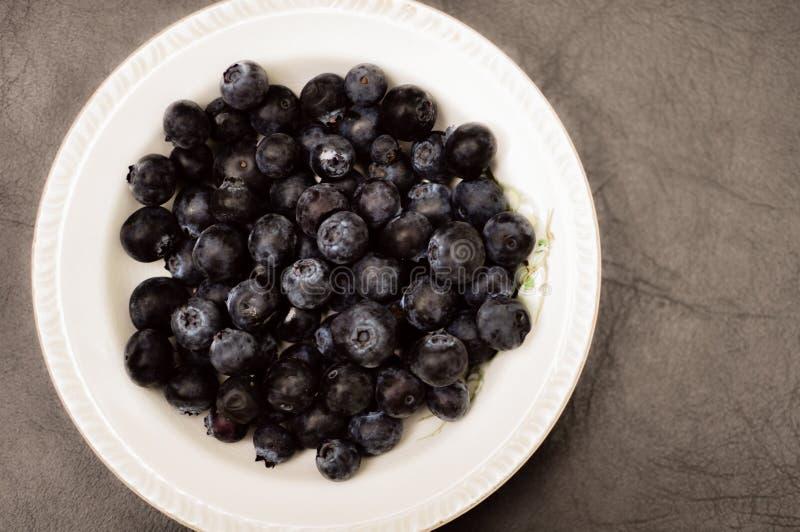 Organicznie czarna jagoda Świeża zdjęcia royalty free
