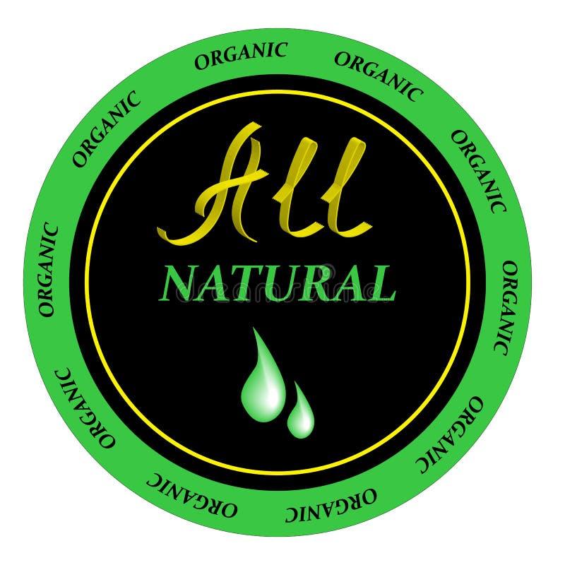 Organicznie eco kosmetyki naturalny szampon Wektorowa ilustracyjna sylwetka ilustracja wektor