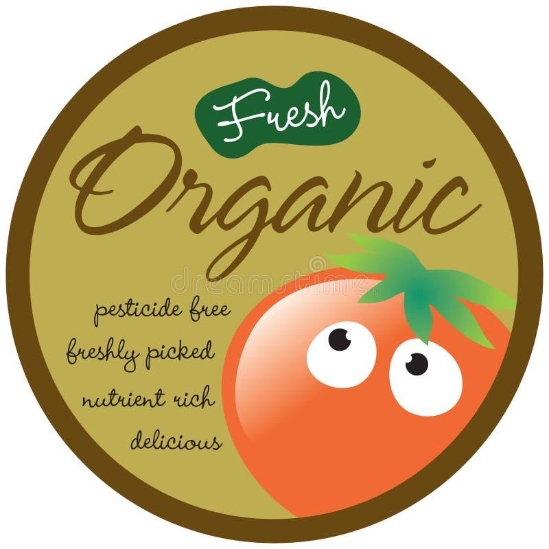 organicznie etykietka majcher royalty ilustracja