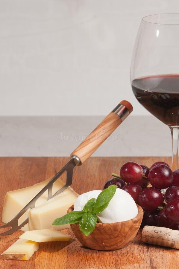 Organicznie foods dla wino degustaci wydarzenia obraz stock