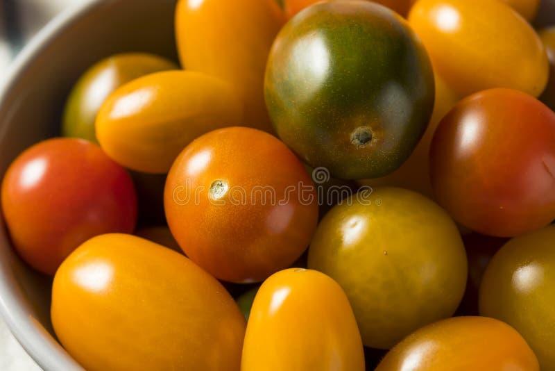 Organicznie Heirloom Czereśniowi pomidory zdjęcia stock