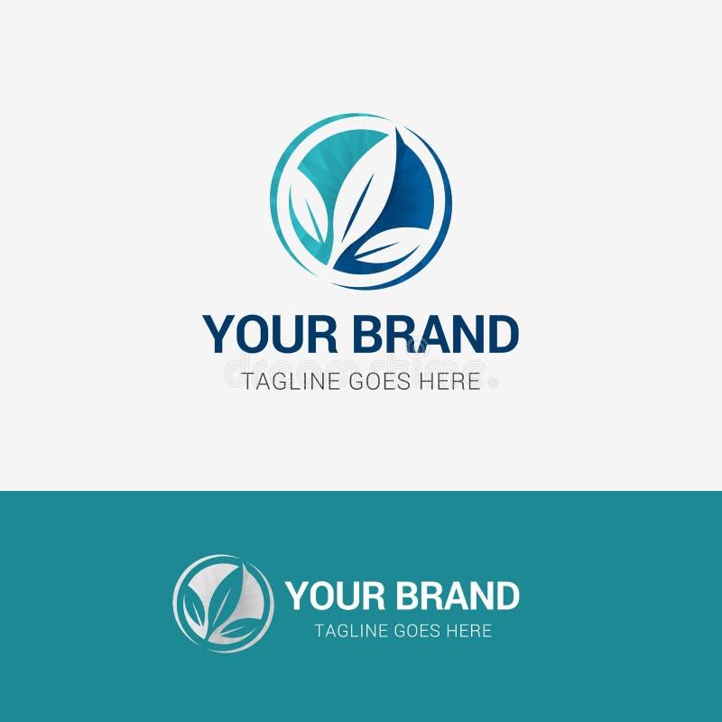 Organicznie liścia Medyczny logo ilustracji
