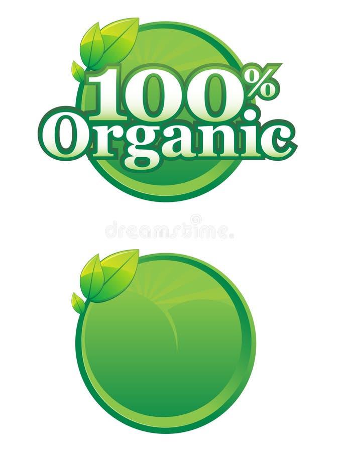 organicznie loga szablon ilustracji
