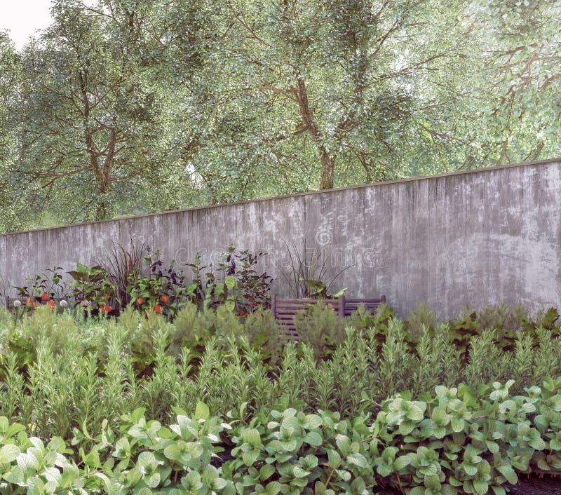 Organicznie ogród - Podtrzymywalny, konserwacja natura zdjęcia stock