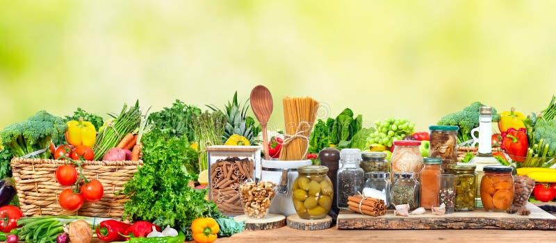 organicznie owoc warzywa fotografia stock