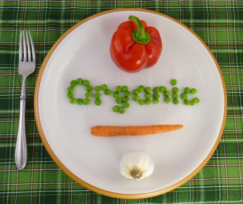organicznie półkowi warzywa zdjęcia royalty free