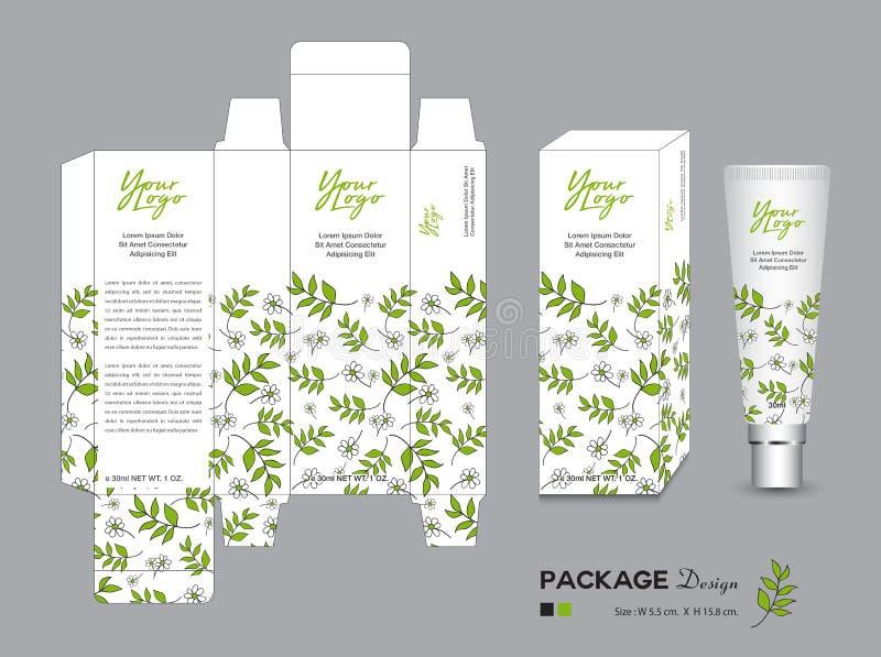 Organicznie pakuje szablonu wektoru ilustracja Pakunek etykietki royalty ilustracja
