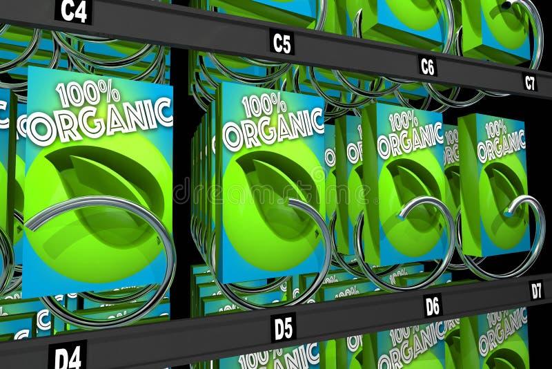 Organicznie produktów pudełek przekąski Karmowy automat 3d Illustratio ilustracji