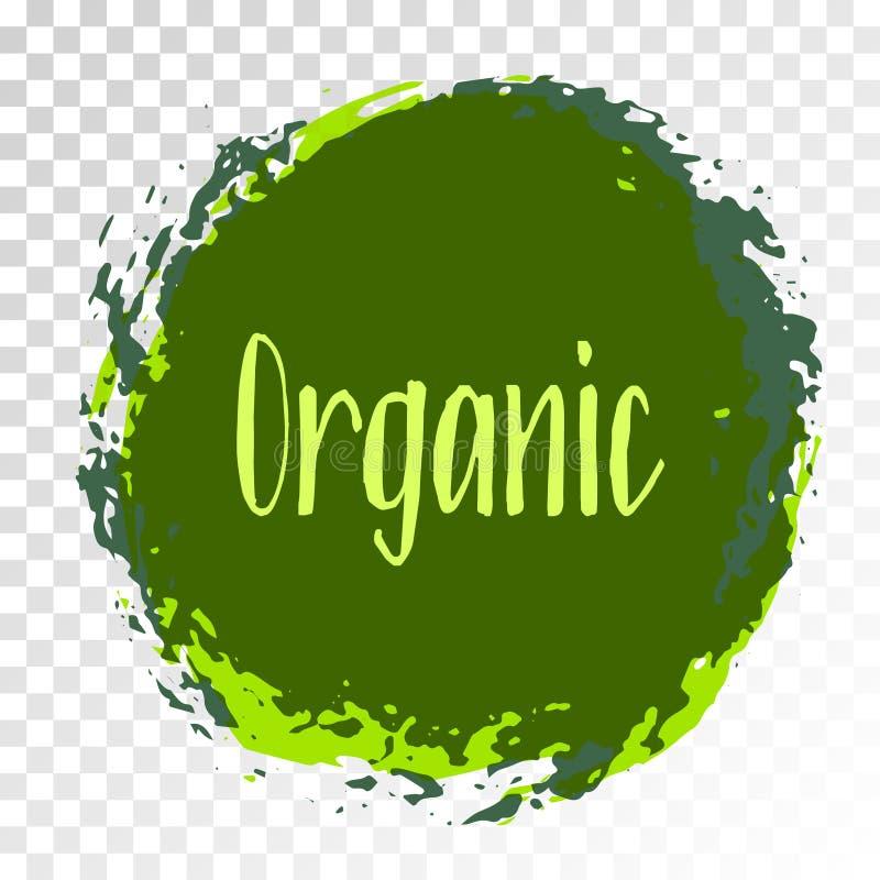 Organicznie produkt ikona, karmowa pakunek etykietka royalty ilustracja