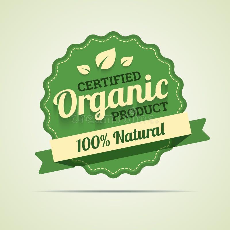 Organicznie produkt odznaka royalty ilustracja