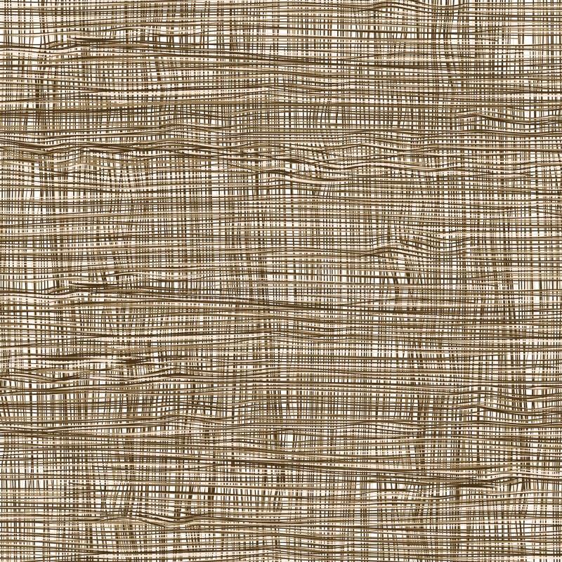 Organicznie Retro siatki tkaniny tła Tekstylny wzór ilustracji