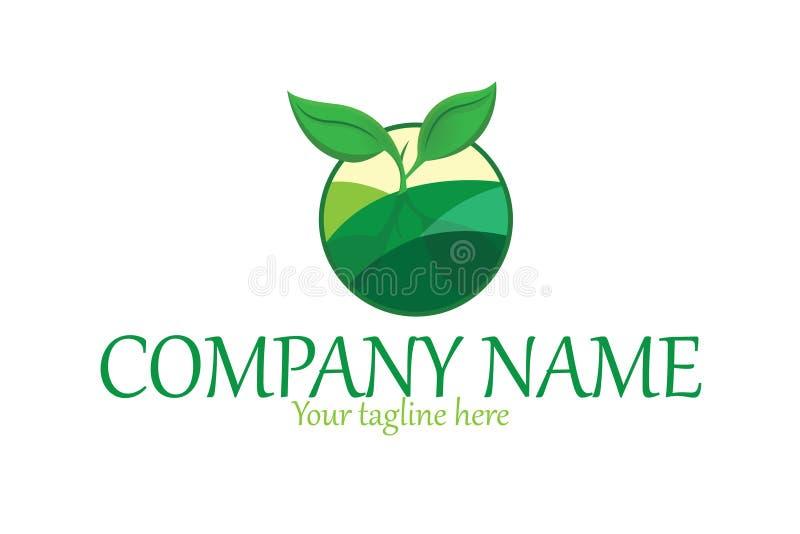 Organicznie roślina logo ilustracja wektor