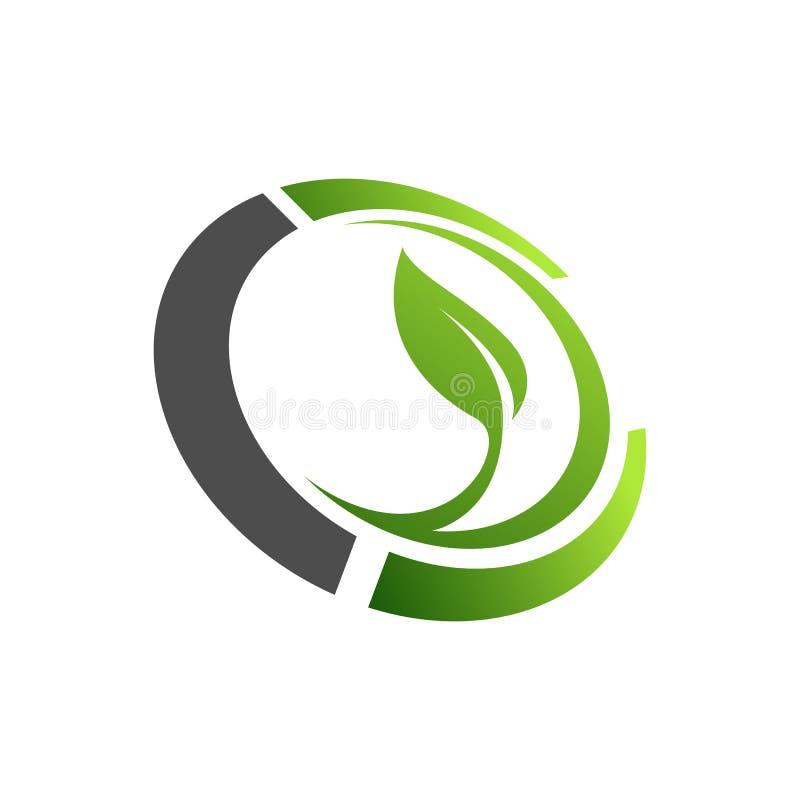 Organicznie uprawia ziemię loga projekta pomysł Dobrzy jedzenia crea ludzie na dobre ilustracja wektor