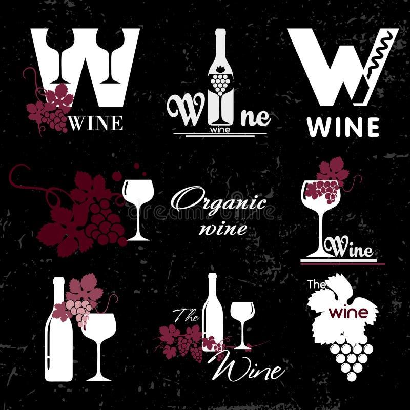 Organicznie wino logo ilustracji