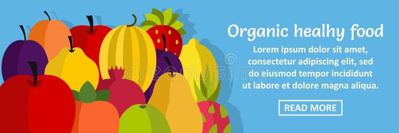 Organicznie zdrowego karmowego sztandaru horyzontalny pojęcie ilustracji