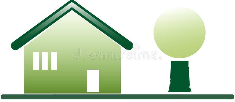 Organicznie zielony dom zdjęcie stock