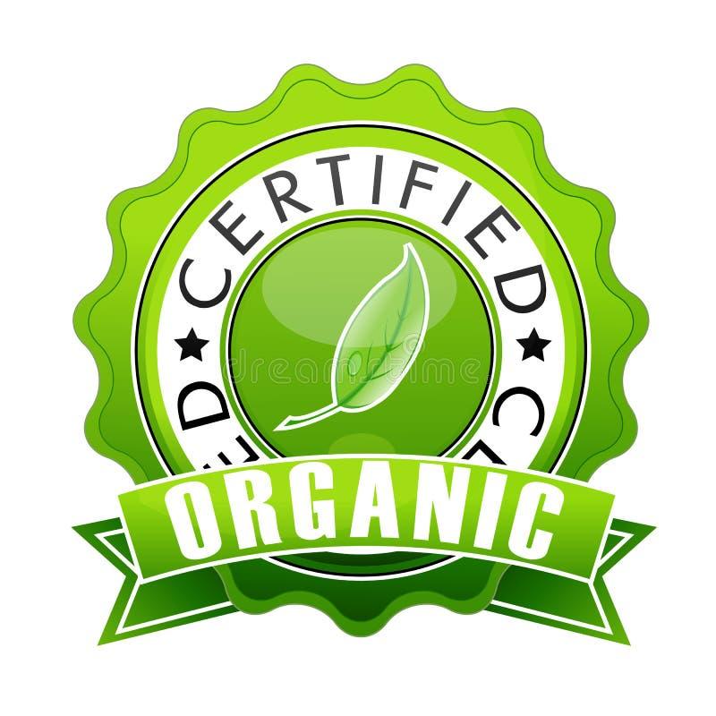 organicznie znaczek ilustracja wektor