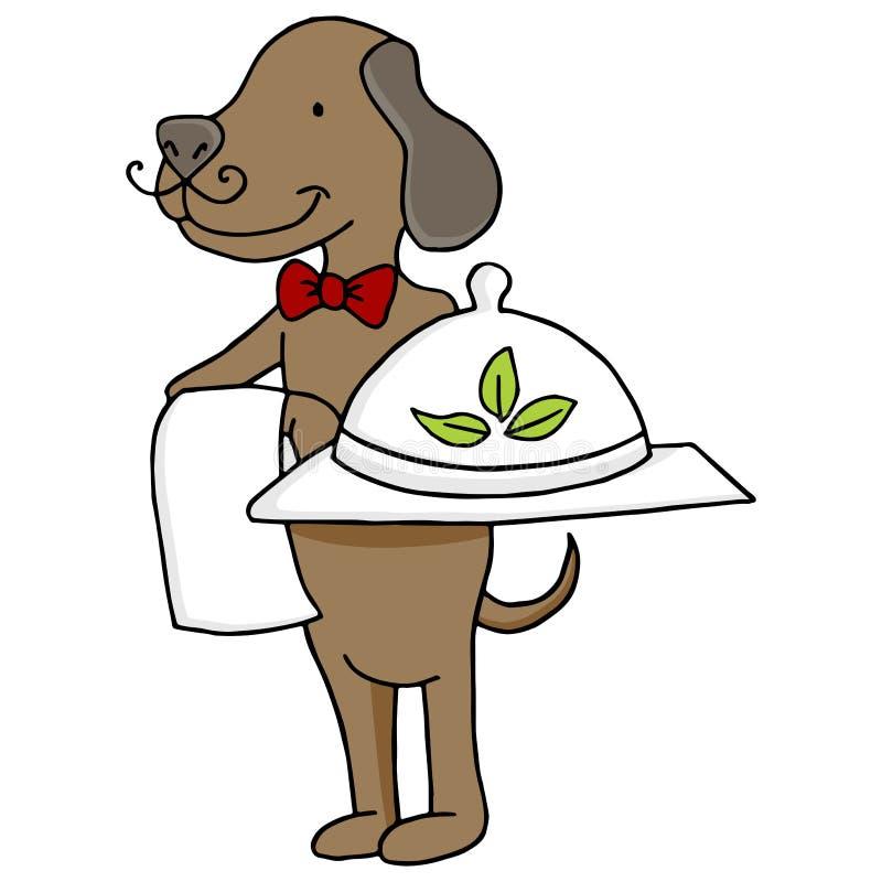 Organicznie zwierzęcia domowego jedzenie z psem ilustracji