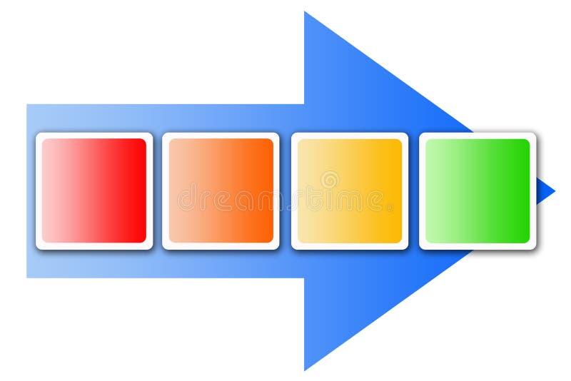 Organigrama ilustración del vector