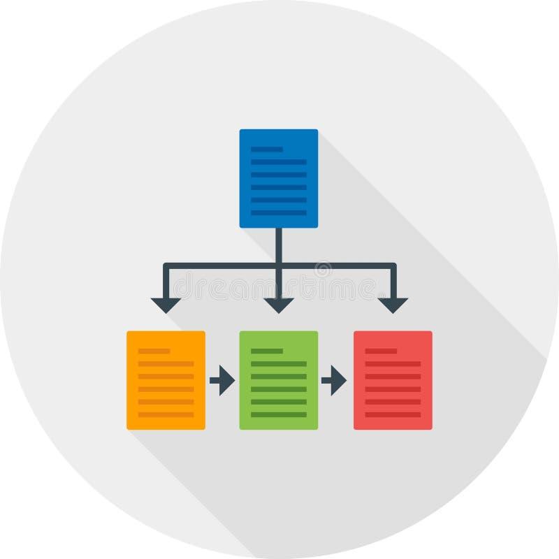 organigrama stock de ilustración
