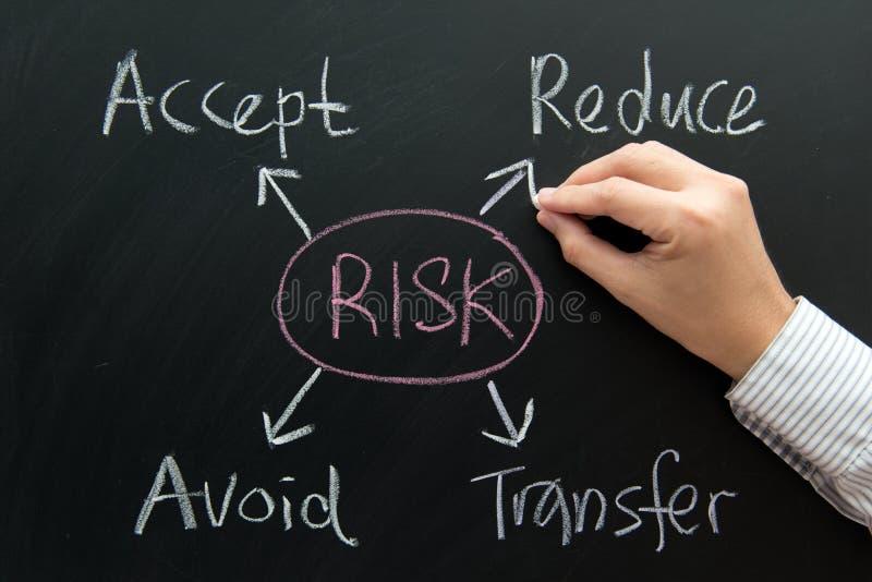 Organigrama de la gestión de riesgos fotografía de archivo libre de regalías