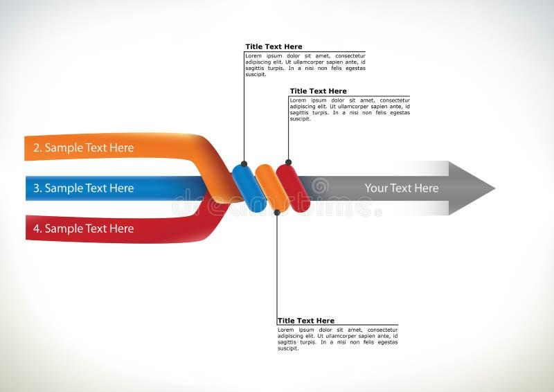 Organigrama de la presentación con la flecha stock de ilustración