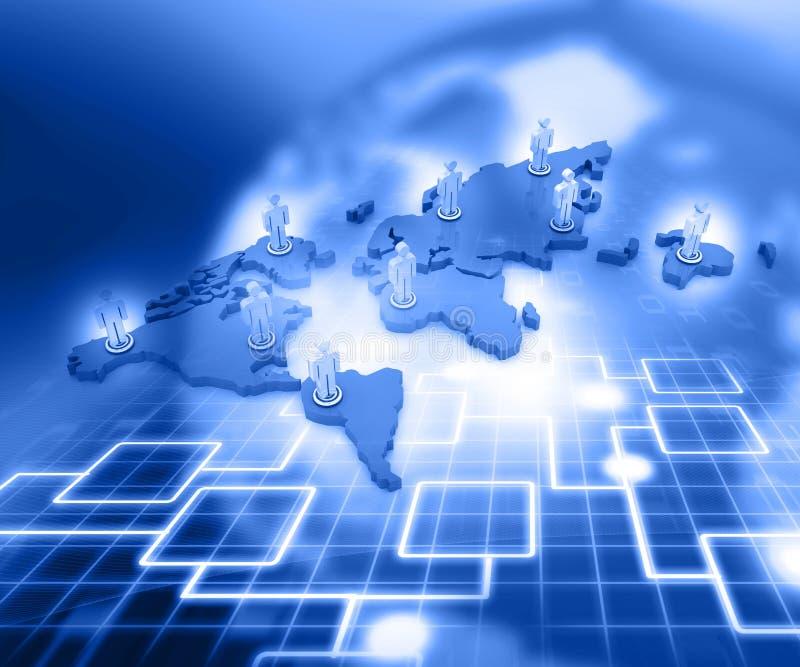 Organigrama de red del negocio stock de ilustración