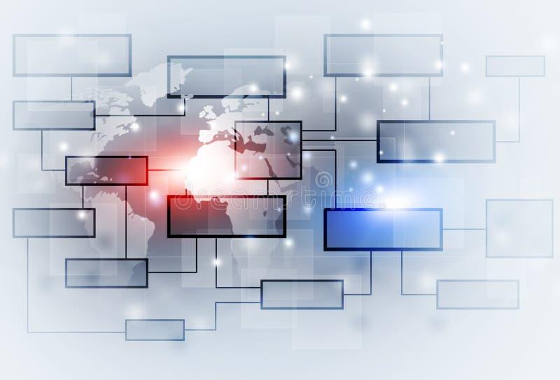 Organigrama del concepto del negocio ilustración del vector