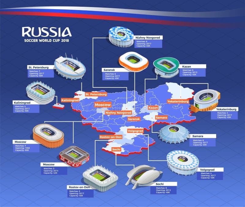 Organigrama del mundial del fútbol ilustración del vector