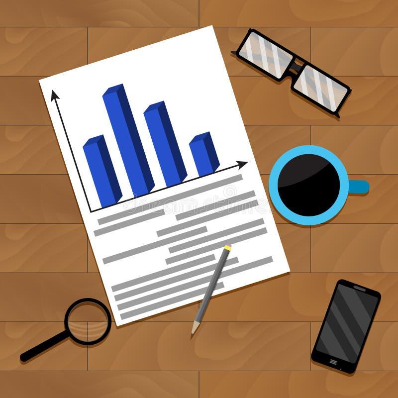 Organigrama financiero del negocio libre illustration