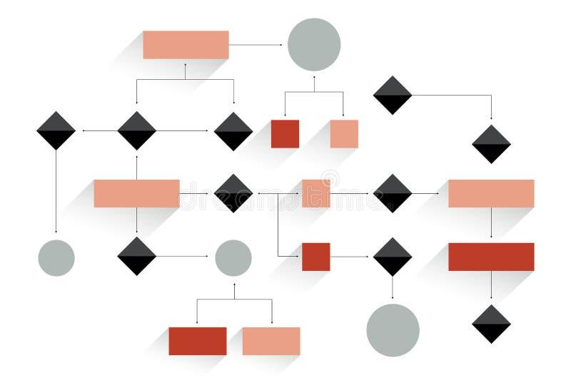 Organigrama grande Esquema geométrico stock de ilustración