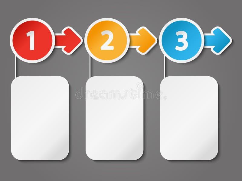 Organigrama para su diseño ilustración del vector