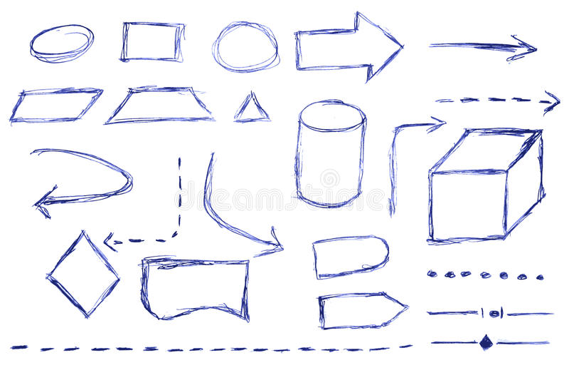 Organigrama - pluma azul ilustración del vector