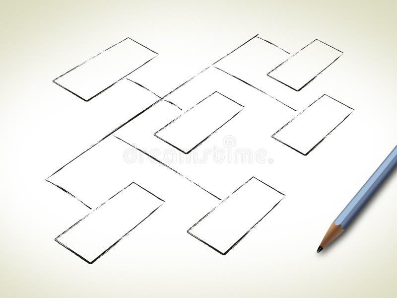Organigramma in bianco illustrazione vettoriale