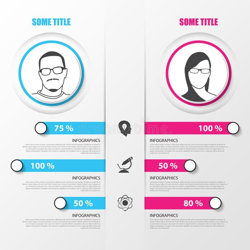 Organigramma Modello di disegno di Infographics Illustrazione di vettore illustrazione di stock