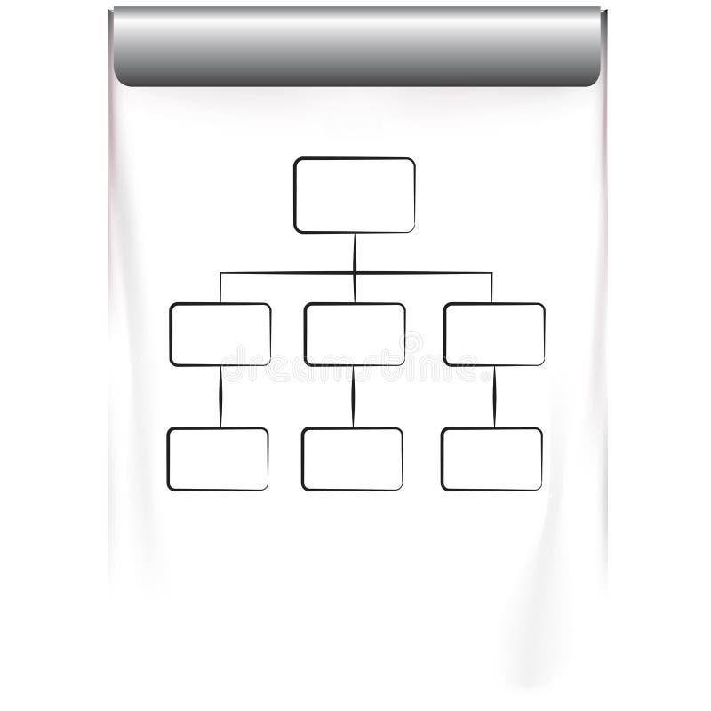 Organigramme illustration stock
