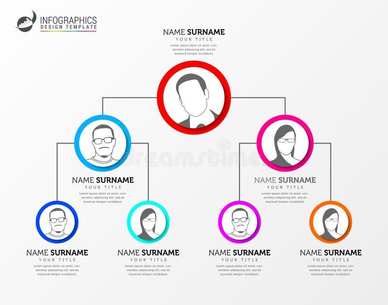 Organigramme créatif Calibre de conception d'Infographic Vecteur illustration de vecteur