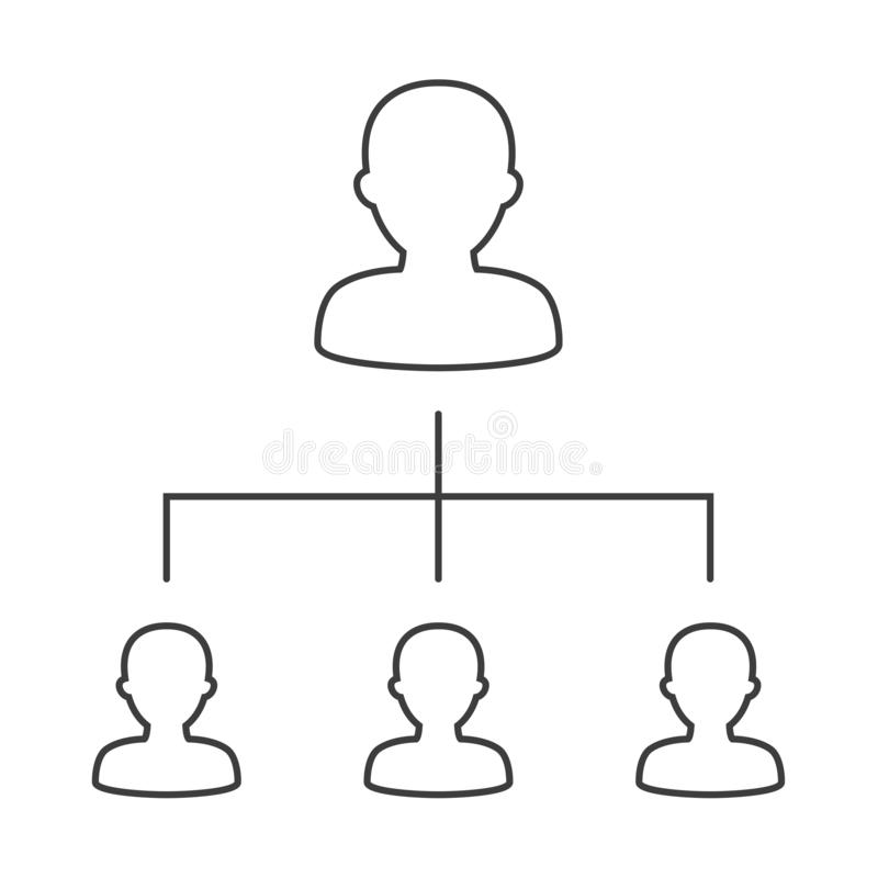 Organigramme d'entreprise avec des gens d'affaires d'icônes illustration stock