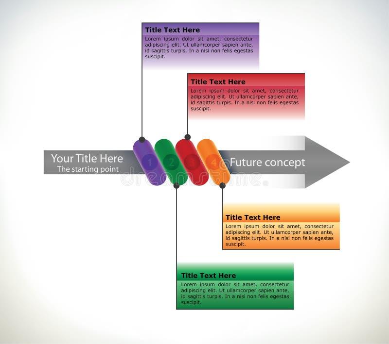 Organigramme de présentation avec la flèche illustration stock