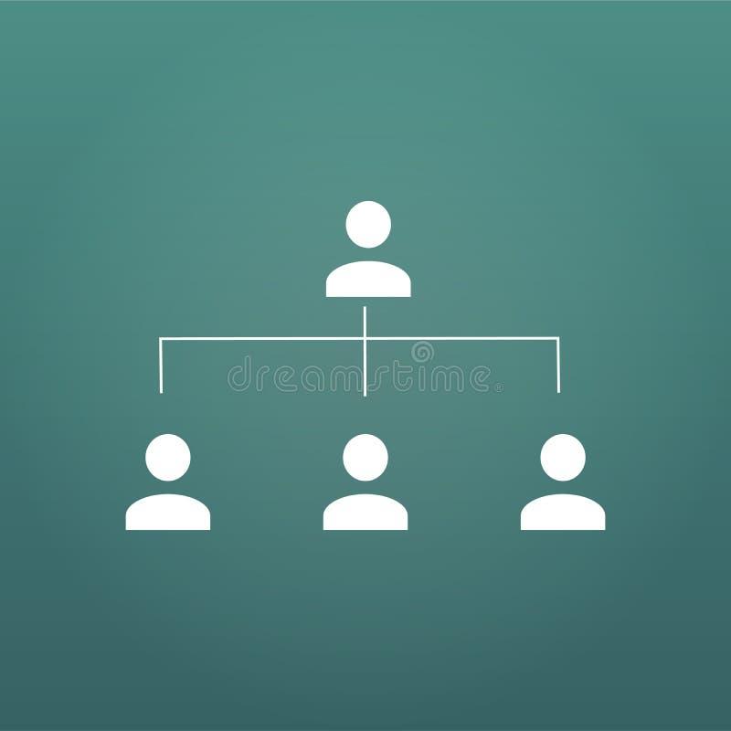 Organigramme infographic, icône de personnes, concept de pyramide de hiérarchie, illustration de vecteur, pour des présentations, illustration libre de droits
