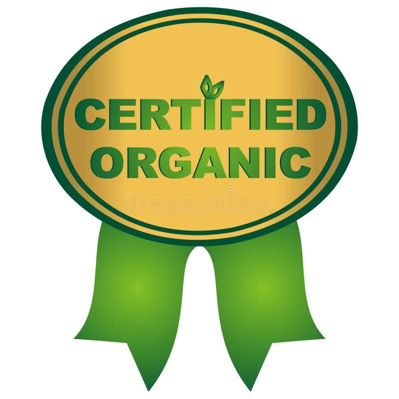 Organique certifié illustration stock