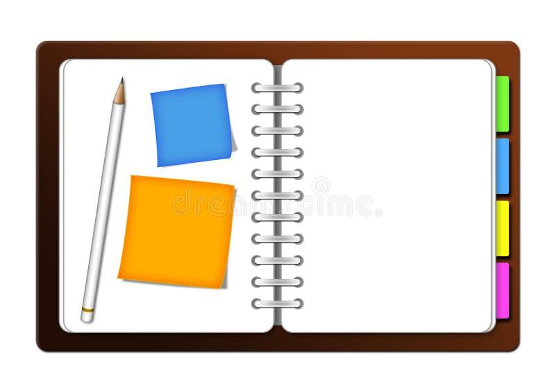 organisateur illustration de vecteur