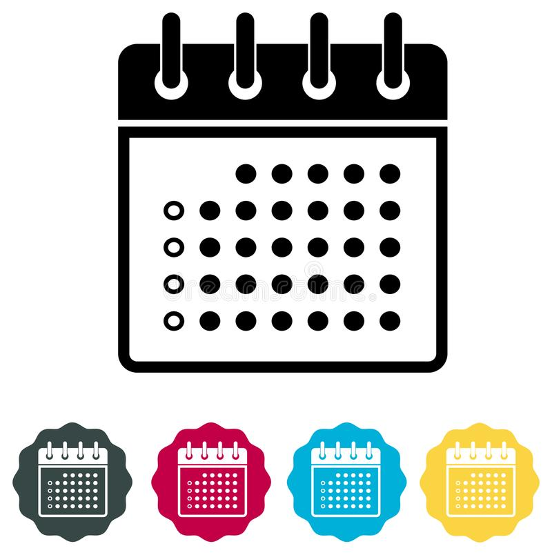 Organisateur Icon - illustration de calendrier illustration stock