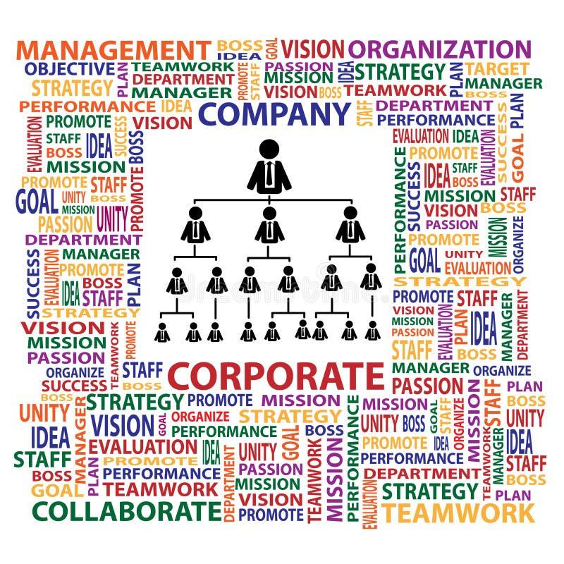 Organisatie en collectieve structuur in bedrijf FO vector illustratie