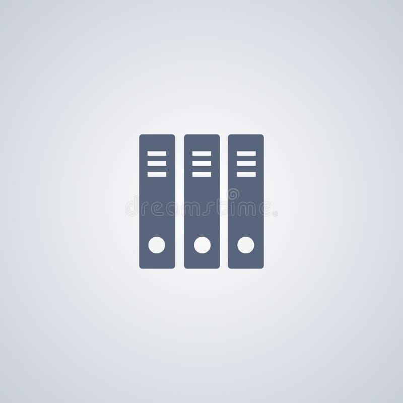 Organisatie, het archiveren, vector beste vlak pictogram royalty-vrije illustratie