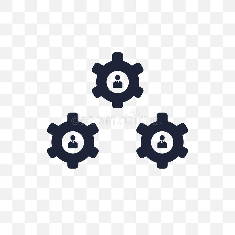 Organisatie transparant pictogram Het ontwerp van het organisatiesymbool van B royalty-vrije illustratie